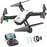 SANROCK U52 Drohne mit Kamera 1080P HD Kamera WiFi Live Video FPV Drohne für Kinder RC Quadcopter, Schwerkraft Sensor, Headless Modus, 3D-Flip, Benutzerdefinierte Route, One Key Backward