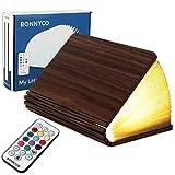 Buchlampe Holz mit Farbwechsel 12 Farben und Timer