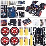 kuman Neu Smart Roboter Kompatibel mit Arduino Car Kit mit R3 Board, Line Tracking Modul, Ultraschallsensor, APP Steuerung via Smartphone usw, Auto Robot Spielzeug für Erwachsene und Kinder SM11