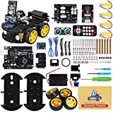 ELEGOO Smart Robot Car Kit V4.0 Kompatibel mit Arduino IDE Elektronik Baukasten mit UNO R3 Mikrocontroller, Line Tracking Modul, Ultraschallsensor, Bluetooth-Modul, Auto Roboter Spielzeug für Kinder