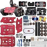 ELEGOO Smart Robot Tank Kit Kompatibel mit Arduino IDE Elektronik Baukasten mit UNO R3, Line Tracking Modul, Ultraschallsensor, Bluetooth-Modul,Camera Modul, Auto Tank Roboter Spielzeug für Kinder