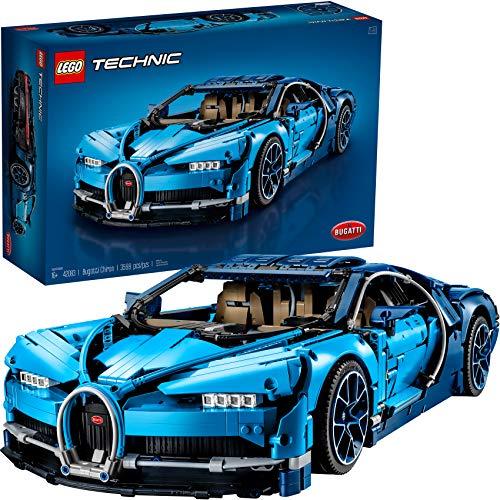 Bild des LEGO Technic Bugatti Chiron 42083 Rennwagen-Baukastens und Konstruktionsspielzeug, Sammler-Sportwagen für Erwachsene mit maßstabsgetreuem Modellmotor (3599 Stück)