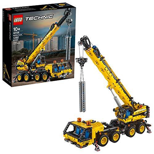Bild des LEGO Technic Mobilkrans 42108 Baukasten, ein Supermodell eines Krans für jeden Fan von Konstruktionsspielzeug, Neu 2020 (1.292 Stück)