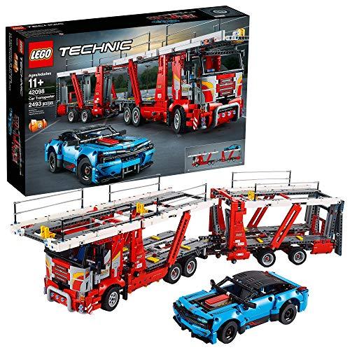 LEGO Technic Autotransporter 42098 Spielzeug-LKW und Anhänger Baukasten mit blauem Auto, bester Technik und STEM Spielzeug für Jungen und Mädchen (2493 Stück)