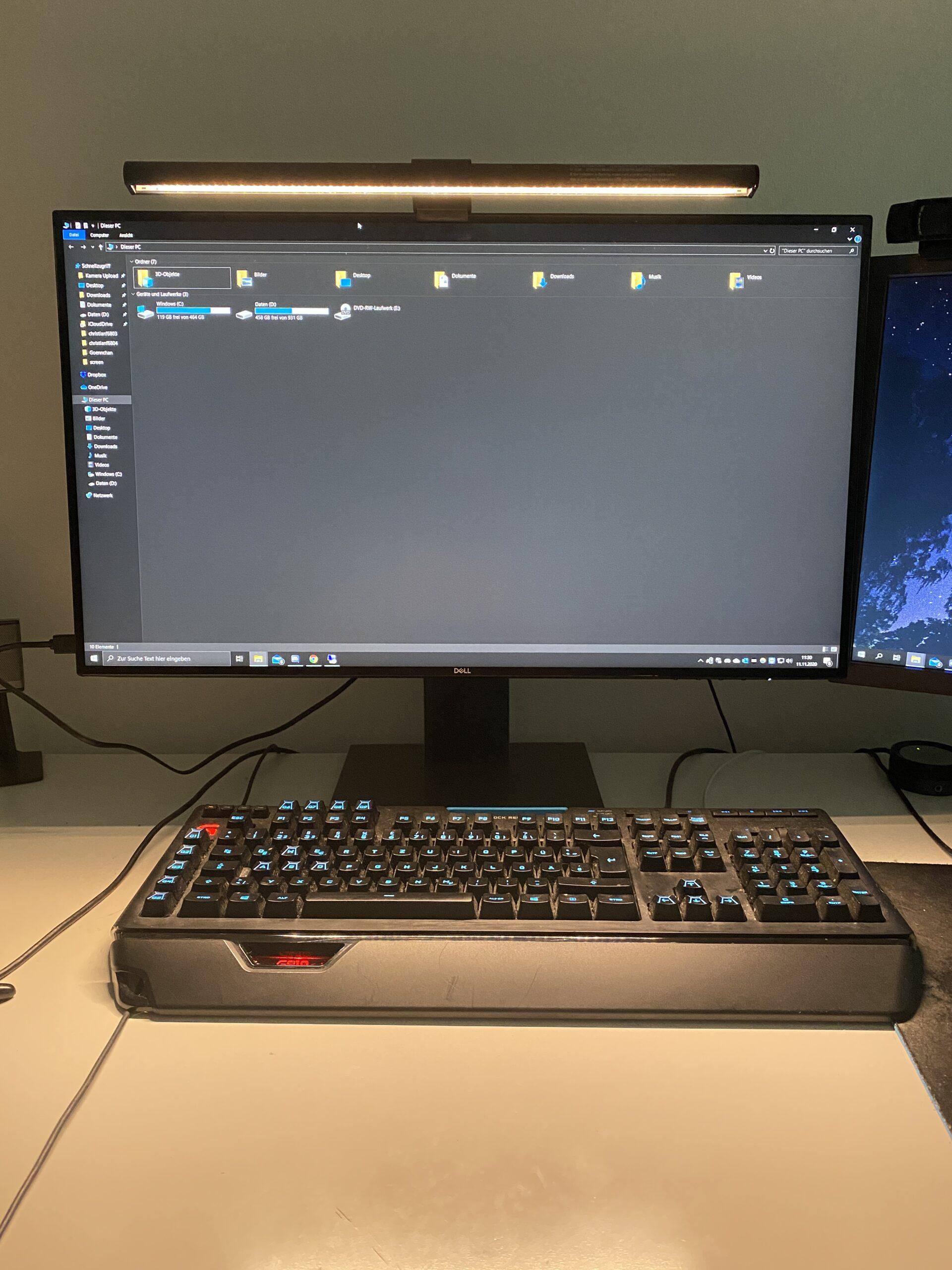 BenQ Screenbar warmes Licht